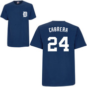 Miguel Cabrera T-Shirt - Navy Detroit Tigers Adult T-Shirt