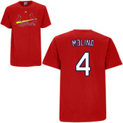Yadier Molina T-Shirt - Red St.Louis Cardinals Adult T-Shirt