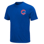 Chicago Cubs Official Wordmark T-Shirt - Navy