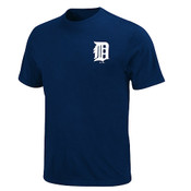 Detroit Tigers Official Wordmark T-Shirt - Navy