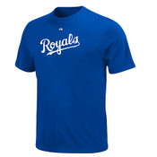 Kansas City Royals Official Wordmark T-Shirt - Royal Blue