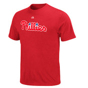 Philadelphia Phillies Official Wordmark T-Shirt - Red