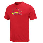 St.Louis Cardinals Official Wordmark T-Shirt - Red