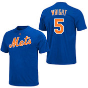 David Wright Youth T-Shirt - Royal Blue Ny Mets T-Shirt