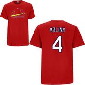 Yadier Molina Youth T-Shirt - Red St.Louis Cardinals T-Shirt