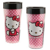Hello Kitty 16oz Plastic Travel Mug