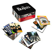 The Beatles 13 pc Album Cover Coaster Set with Tin Storage Box