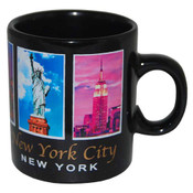 NYC 5 Color Windows Black 4oz Mini Mug