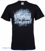 New York Larger Than Life Skyline Black Adult T-Shirt