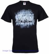 New York Larger Than Life Skyline Black Adult T-Shirt