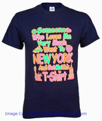 NYC Someone Who Loves Me Navy Adult T-Shirt