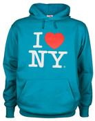 I Love NY Sapphire Hooded Sweatshirt