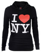 I Love NY Fashion Fit Thermal Hoodie - Black