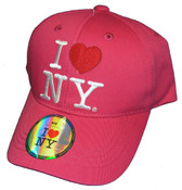 I Love NY Kids Hat - Hot Pink Cap