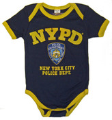 NYPD Navy and Gold Baby Onesie