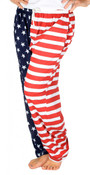 American Flag Pajama Pants - Adult Lounge Pants - front