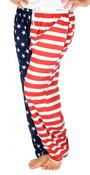 American Flag Pajama Pants - Adult Lounge Pants - front