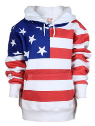 American Flag Full Body Adult Hooded Sweatshirt - front