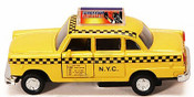 "NYC Classic Checkered Taxi 4.5"" Pullback Toy Car"