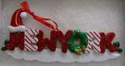 New York Decorated Glitter Christmas Ornament