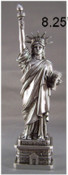 8 Inch Pewter Statue of Liberty