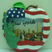 US Flag with Lady Liberty Apple 3.5 x 5 Picture Frame