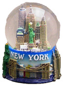 NY Skyline and Sea Color 100mm Snowglobe - w 1 WTC