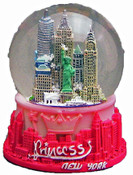 Princess NY Pink 65mm Snowglobe with 1 World Trade Center