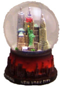 NY City Never Sleeps 45mm Snowglobe - W WTC