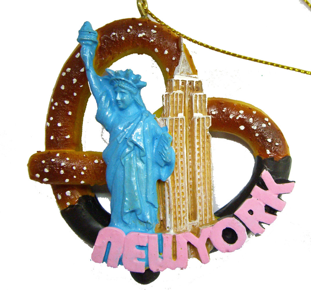 New York City Pretzel Ornament