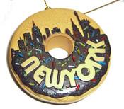 NY Chocolate Skyline Donut Ornament