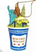 NYC Icons In Coffee Cup Ornament