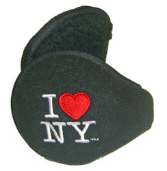 Black I love NY Earmuffs with Logo on sides alt image