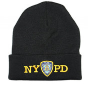 nypd winter hat beanie