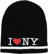 I Love NY Winter Hat - Black