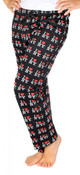 I Love NY Black Allover Print Pajama - front