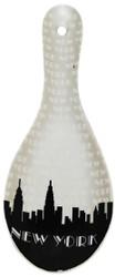 NYC Grey Skyline Ceramic Spoon Rest