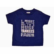 "Yankees Toddler ""Huge Yankees Fan"" Navy Tee"