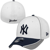 New Era Yankees 39THIRTY Abrasion Flex Hat - White-Front