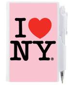 I Love NY Flip Style Notepad - Pink