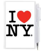 I Love NY Flip Style Notepad - White