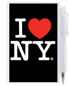 I Love NY Flip Style Notepad - Black