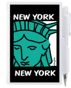 NYC Lady Liberty Flip Style Notepad