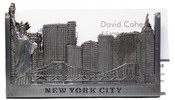 NYC Skyline Pewter Business Card Holder