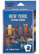 NY Skyline Postcard 13 Images Playing Cards