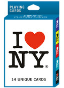 I Love NY In 14 Colors Playing Cards