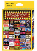 Broadway Shows NY Playing Cards
