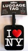 I Love NY Luggage Tag - Black