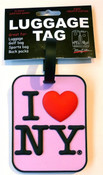 I Love NY Luggage Tag - Pink
