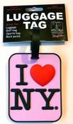I Love NY Luggage Tag - Pink